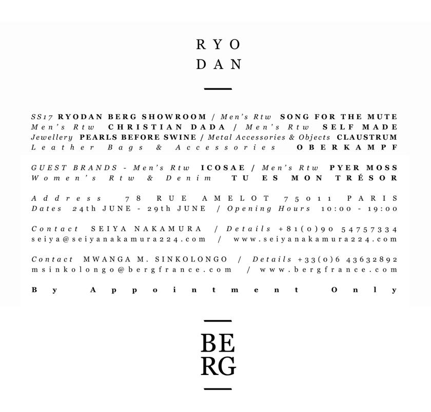 Ryodan Berg SS17